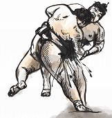 Sumo. Hand Drawn Vector In Calligraphic Style (converted)