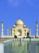 Agra - circa November 2014: Taj Mahal  in Agra - circa November 2014