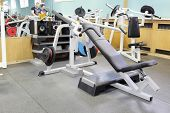 fitness gym with sports equipment