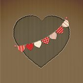 Valentine Heart Cardboard Cut Out With Bunting