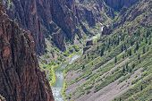 stock photo of gneiss  - Black Canyon of the Gunnison National Park in Colorado USA - JPG
