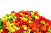 Colorful Frozen Vegetables