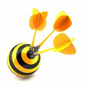 Darts In Center Of Target