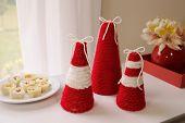 Yarn Christmas Table Decoration