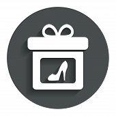 Gift box sign icon. Present symbol.