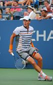 Professional tennis player Tomas Berdych from Czech Republic during US Open 2014 round 3 match