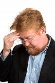 Worried Depressed Mature Man