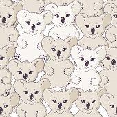 Many Koalas Seamless Background