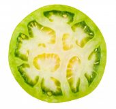 Slice of green tomatoes