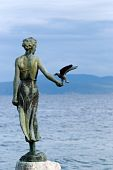Sculpture Of The Woman And Seagull