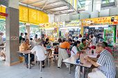 Singapore Food Court At Whampoa Hawker Center