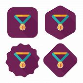 Medal Flat Icon With Long Shadow,eps10