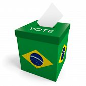 Brazil election ballot box for collecting votes