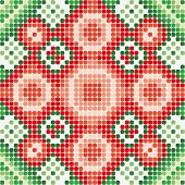 pattern green red