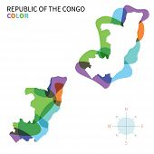 Abstract vector color map of Republic the Congo.