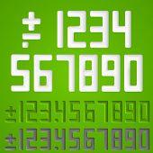 Number sings. Vector