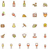 Set of the wine related icon