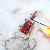 Helicopter In Fire