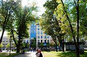 Vilnius City Town Kudirkos Square On September 24, 2014
