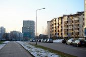 Baltrusaicio Street In Vilnius At Afternoon Time On November 24, 2014