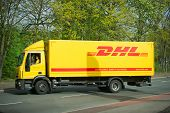 DHL Iveco Euro Cargo truck