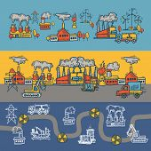 Industrial sketch banner design