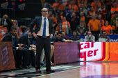 VALENCIA, SPAIN - JANUARY 24: Ocampo during Spanish League match between Valencia Basket Club and UCAM Murcia at Fonteta Stadium on January 24, 2015 in Valencia, Spain