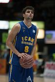 VALENCIA, SPAIN - JANUARY 24: Neto during Spanish League match between Valencia Basket Club and UCAM Murcia at Fonteta Stadium on January 24, 2015 in Valencia, Spain