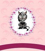 Cute Zebra On Pink Background