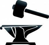anvil blacksmith symbol vector