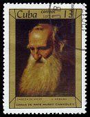 Head Of Old Man By Cuban Artist J. Arburu
