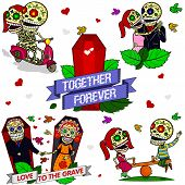Funny Skeletons.Together Forever