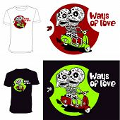 Skeletons. T-shirt. Ways Of Love