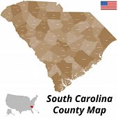 South Carolina County Map