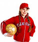 Girl In National Jersey Of Czech Republic