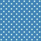 White spotted blue fabric