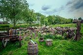 Old Oak Barrels Of Beer