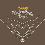 Happy Valentines Day greeting card. Design template