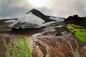 Colorful landscape in Iceland