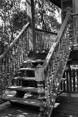 Thailand Traditional Old Wooden Stair