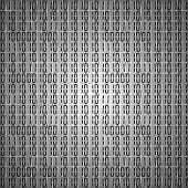 Flat binary code screen table cypher