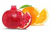 pomegranate and orange
