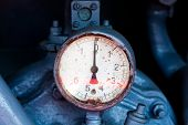 pic of barometer  - Vintage barometer and fire protection system in the truck - JPG