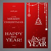 Merry Christmas And Happy New Year Flayers