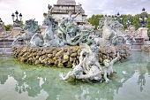 Bordeaux. Monument To The Girondins. Date Fountain Built In 1902 Year