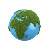 Earth With Grass Africa