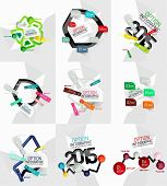 Colorful fresh sticker infographics. Line minimal design concept and sticky objects