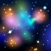 Vector abstract cosmic background