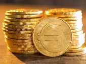 Euro gold coin