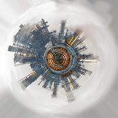 Abstract industrial world. Color image
